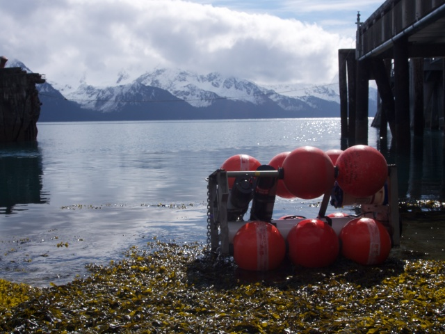 Mooring ready for the test deployment in Seward